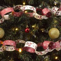 Let It Snow - Father Christmas Paper Chains (50)